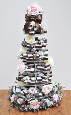 brownie weddinh cake