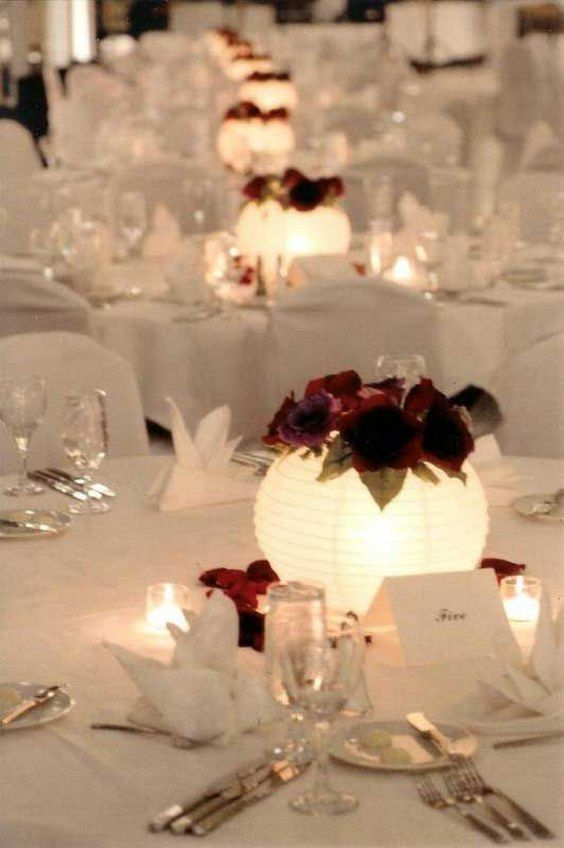paper lanterns centrepieces